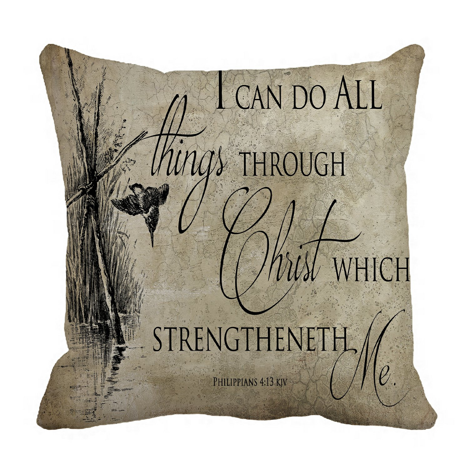 phfzk inspirational pillow case bible verse pillowcase throw pillow cushion cover two sides size 18x18 inches walmart com
