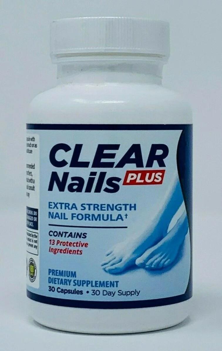 Clear Nails Plus : clear, nails, Clear, Nails, Extra, Strength, Formula, Toenail, Fingernail, Fungus, Supplement, Walmart.com