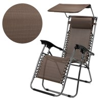 Patio Zero Gravity Chair Folding Lounge with Canopy Shade ...