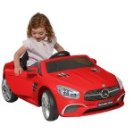 6 Volt Mercedes Sl 400 Red Convertible Battery Powered Ride On Enjoy The Open Road In This Stylish Convertible Mercedes Walmart Com Walmart Com