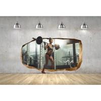 Startonight 3D Mural Wall Art Photo Decor Sexy Girl At and ...