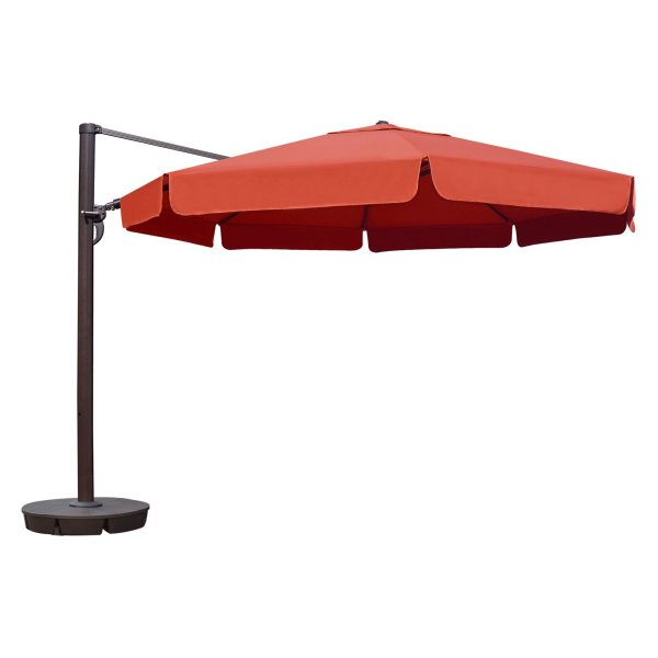 Island Umbrella Victoria 13 Ft. Octagonal Cantilever Patio With Valance