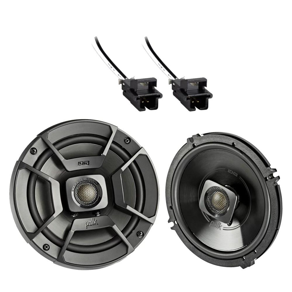 medium resolution of 2x polk audio 6 5 300w 2 way car marine atv stereo coaxial speakers 2x metra 72 4568 speaker wire harness for select gm vehicles walmart com