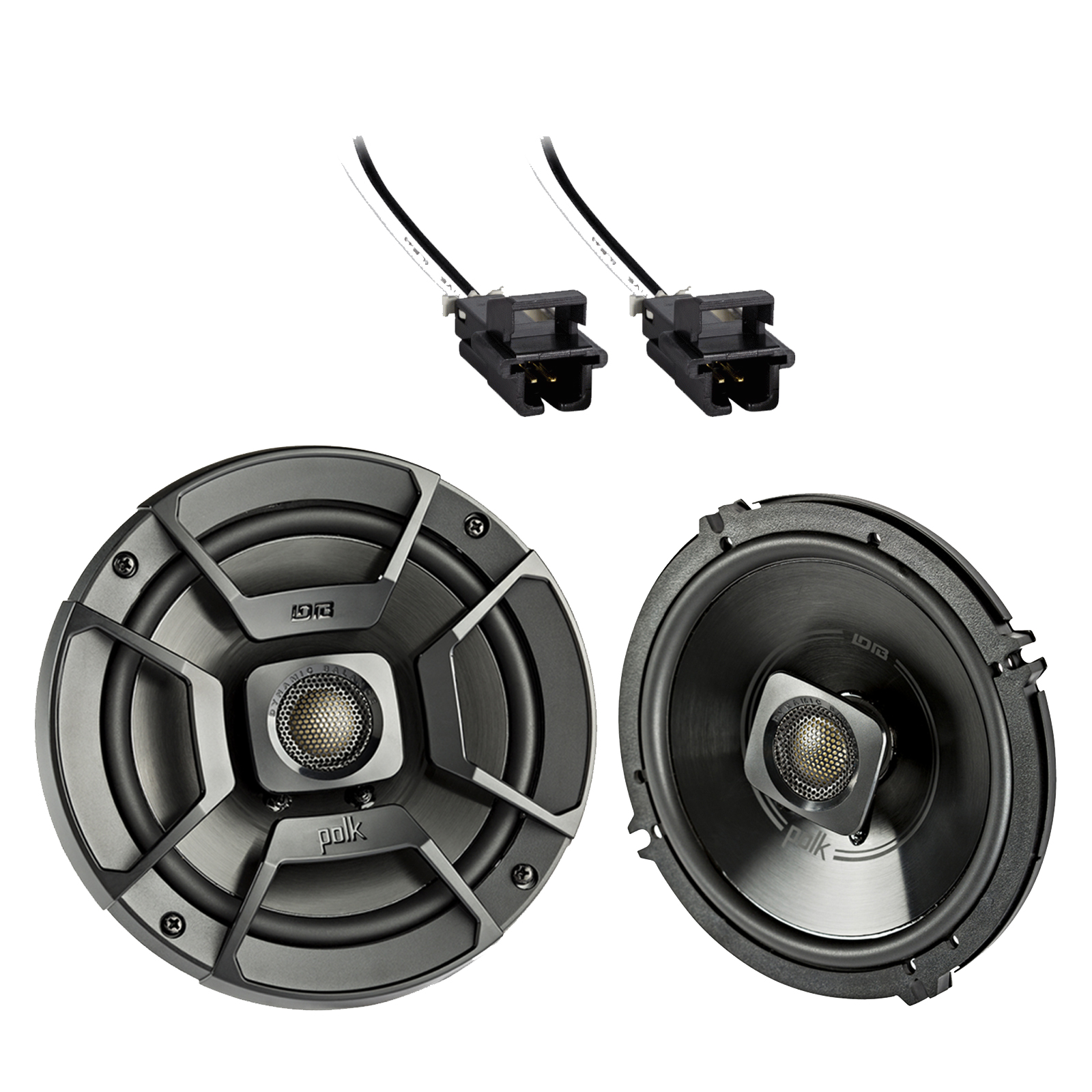 hight resolution of 2x polk audio 6 5 300w 2 way car marine atv stereo coaxial speakers 2x metra 72 4568 speaker wire harness for select gm vehicles walmart com