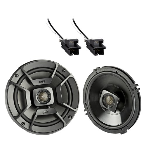small resolution of 2x polk audio 6 5 300w 2 way car marine atv stereo coaxial speakers 2x metra 72 4568 speaker wire harness for select gm vehicles walmart com