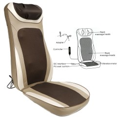 Folding Chair For Massage Cushion Swivel Jiji Car Shiastu Seat Back Neck Shoulder Body Massager Pain Relief Heat Kneading Hitc Walmart Com