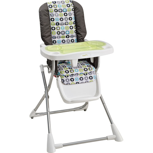 evenflo easy fold high chair orthopedic cushion for compact highchair covingto walmart com