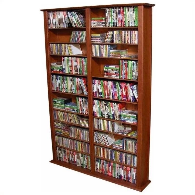 "Venture Horizon Double 76"" Tall CD DVD Wall Media Storage"