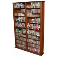 "Venture Horizon Double 76"" Tall CD DVD Wall Media Storage"