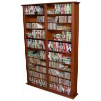 "Venture Horizon Double 76"" Tall CD DVD Wall Media Storage ..."