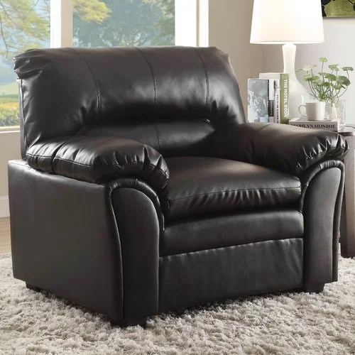faux leather chair and a half vinyl strapping woodhaven hill talon walmart com