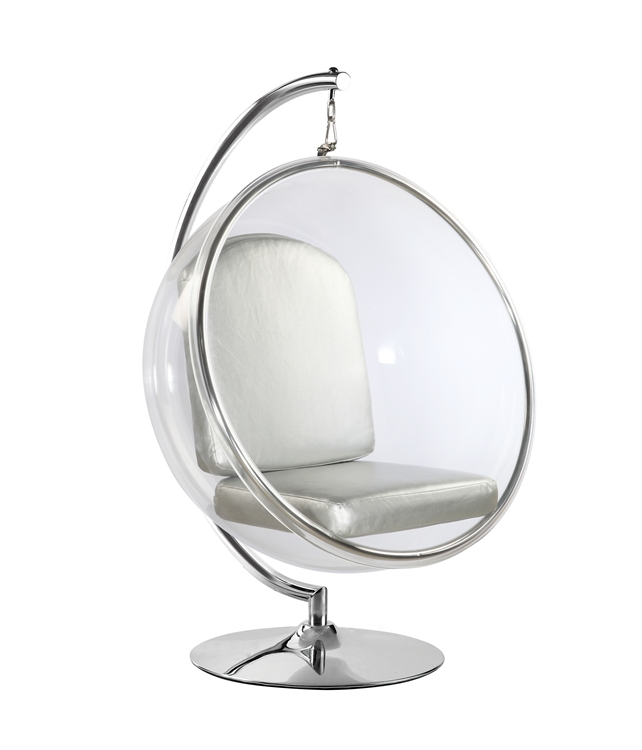 bubble chair on stand sure fit slipcover target fine mod imports hanging with silver cushion not included walmart com