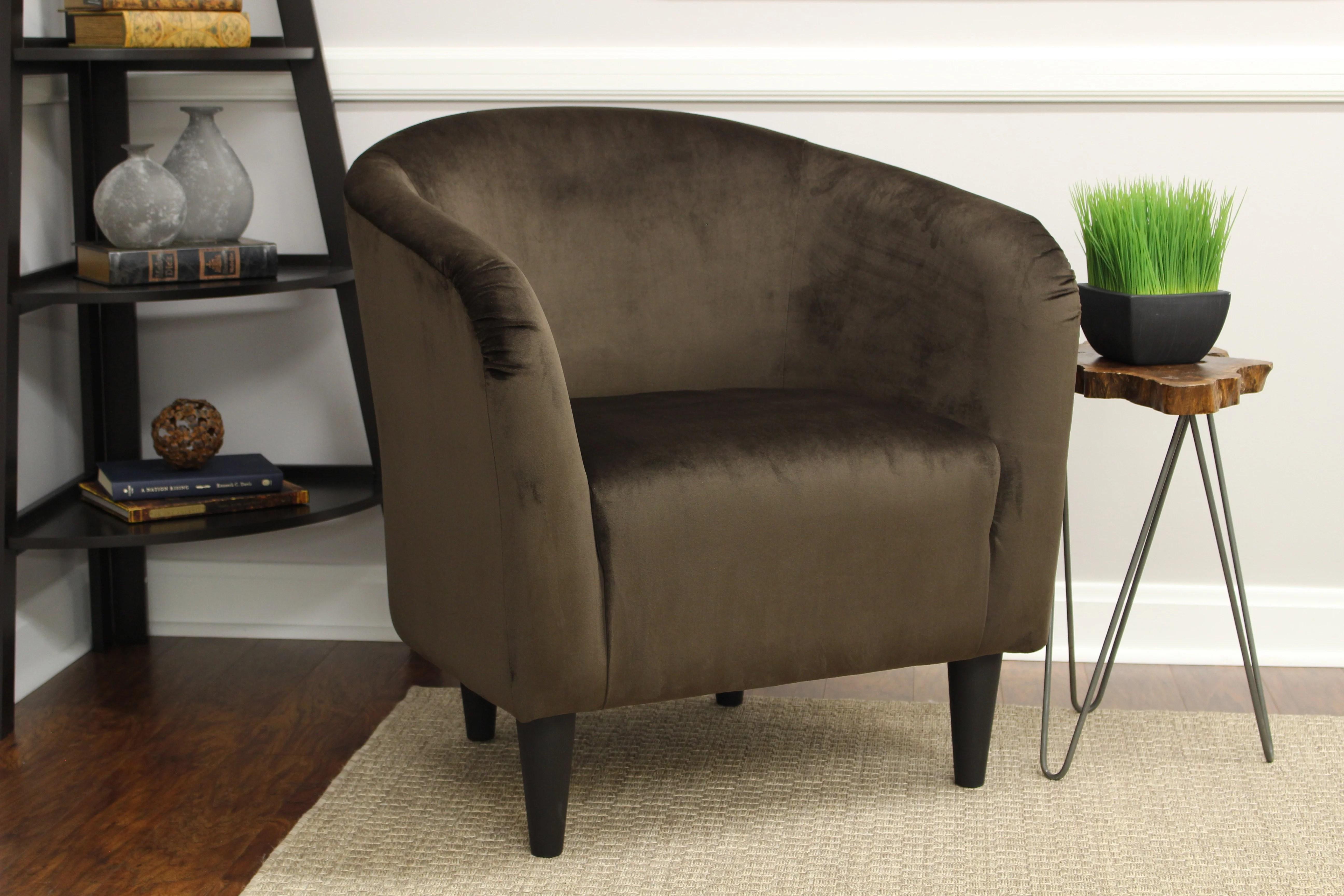 Mainstays Microfiber Tub Accent Chair  Walmartcom