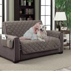 Quilted Microsuede Sofa Cover Cb2 Rue Petal Apartment Furniture Protector Pet 70 X 110 Brown Walmart Com
