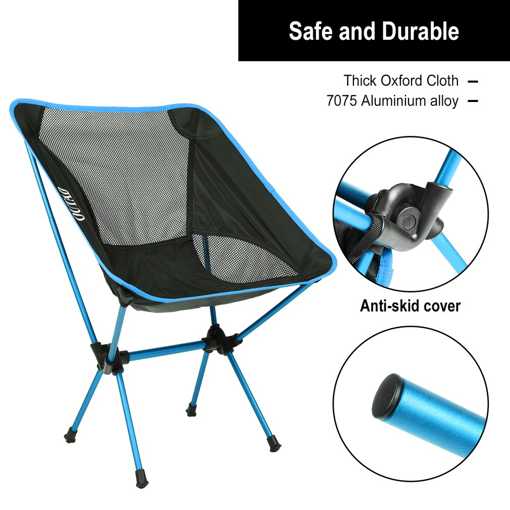 heavy duty folding chairs outdoor eames chair modern ultralight seat for camping fishing picnic beach activities with bag walmart com