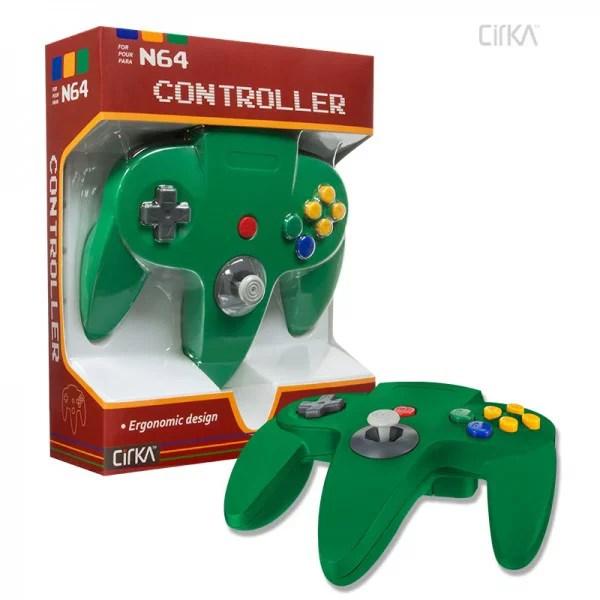Cirka N64 Controller Green Nintendo 64 Walmart