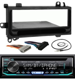 jvc kd td90bts car cd mp3 ipod bluetooth stereo receiver bundle combo w metra installation kit for 1974 and up chrysler dodge jeep cars radio wiring  [ 1600 x 1600 Pixel ]