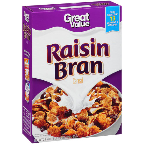 Great Value Raisin Bran Cereal 23.5 oz - Walmart.com
