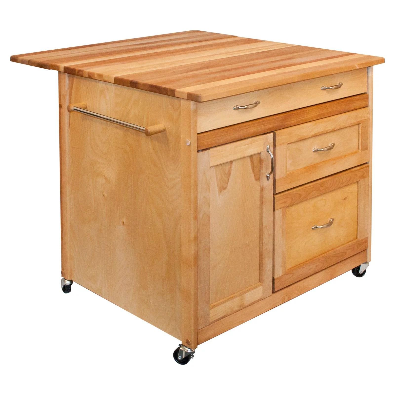 catskill craftsmen kitchen island stainless undermount sink deep drawer walmart com