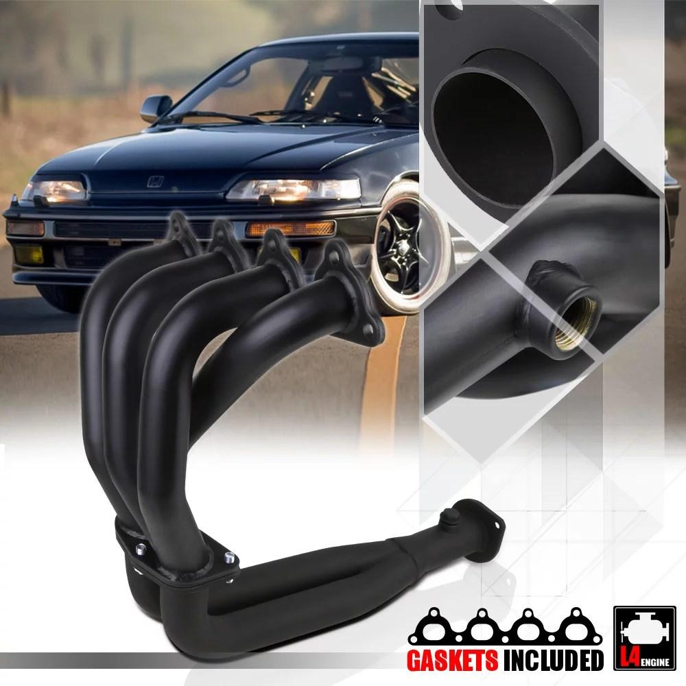medium resolution of black 4 2 1 exhaust header manifold for 88 00 civic crx del sol d series d15 d16 89 90 91 92 93 94 95 96 97 98 99 walmart com