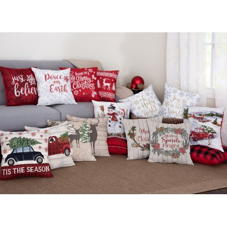 Fall and Holiday Decorative Throw Pillows  Walmartcom
