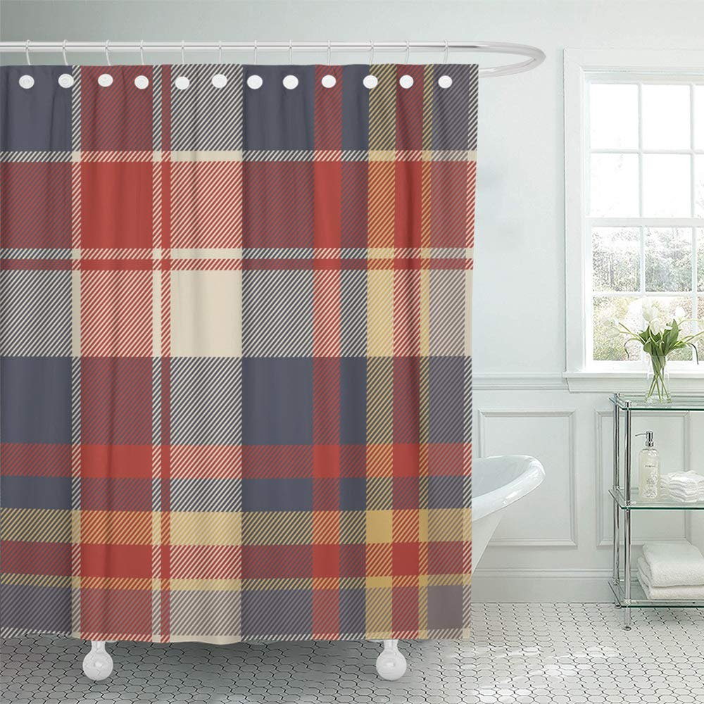 pknmt buffalo black and red lumberjack plaid flannel lumber sexual abstract casual check bathroom shower curtain 66x72 inch