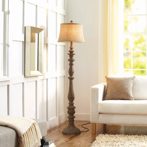 Better Homes and Gardens Rustic Floor Lamp Distressed