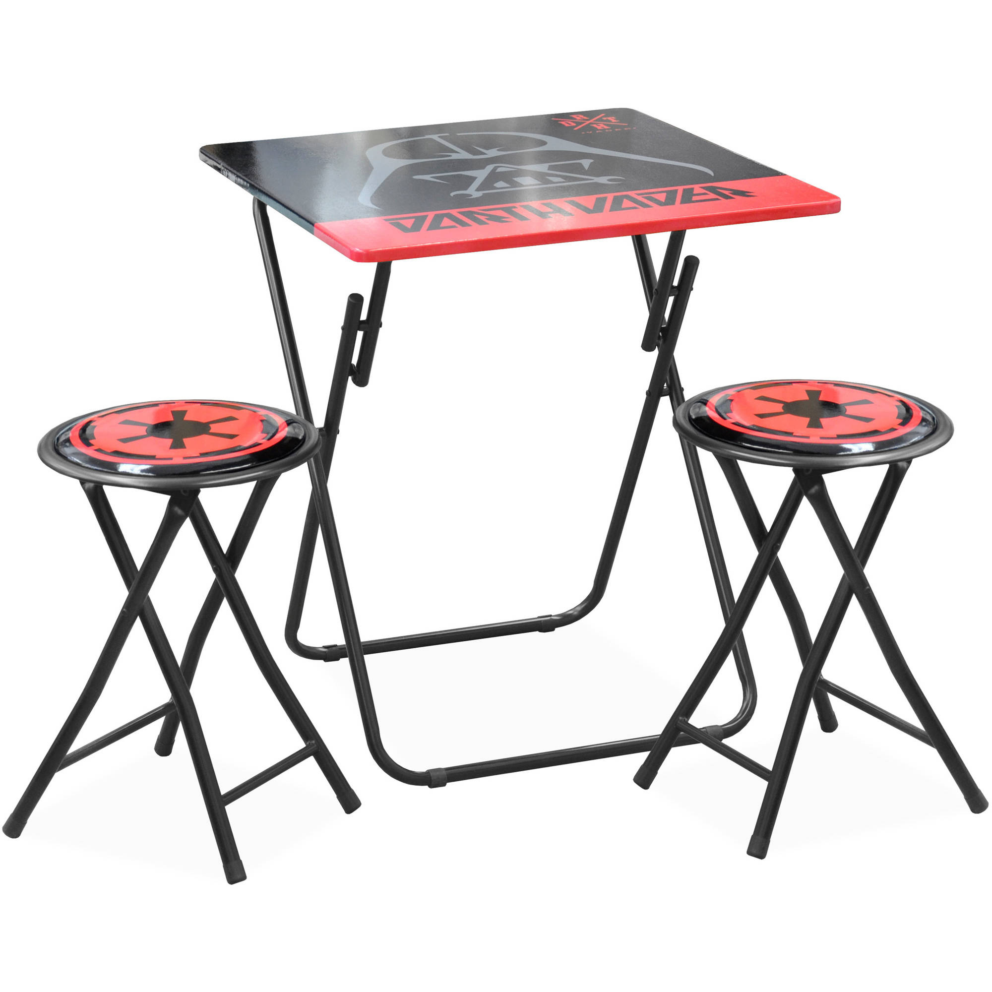 folding table and chair set tent rentals star wars movie darth vader desk walmart com