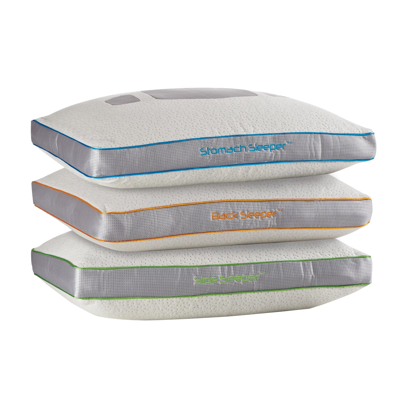 bedgear aspire performance position latex and memory foam pillow walmart com