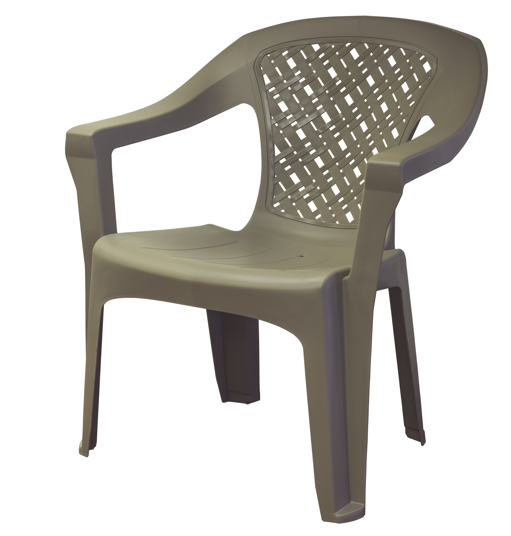 Adams Mfg Corp Resin Big Easy Woven Chair Grey Walmart