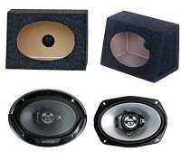 "2) New Kenwood 6x9"" 400W Car Audio Speakers + 2) 6x9 ..."