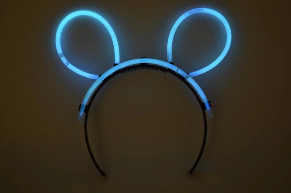 DirectGlow 5 Count Aqua Glow Stick Bunny Ears Fun Neon ...