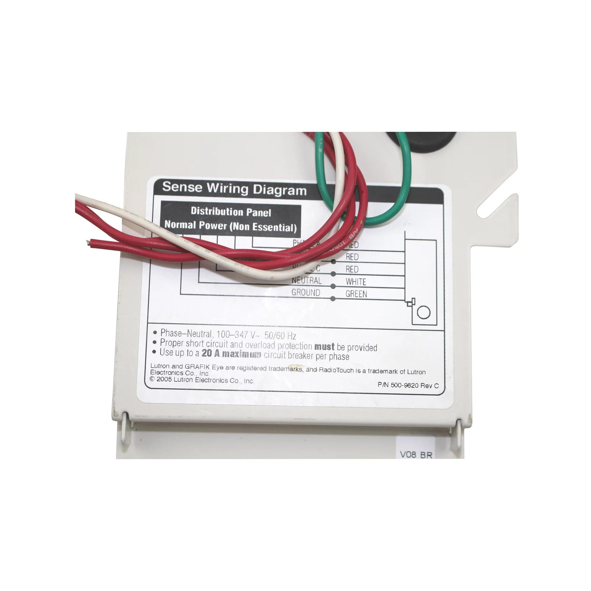 hight resolution of lutron grafik eye lut eli 3ph emergency lighting interface 3 phase detector 100v 347v 50 60hz walmart com