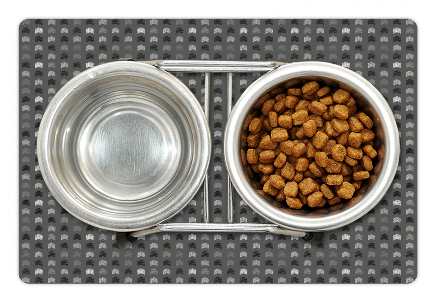 Neutral Pet Mat For Food And Water Direction Pointing