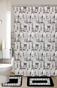Paris Black & White 15-Piece Bathroom Accessory Set 2 Bath ...