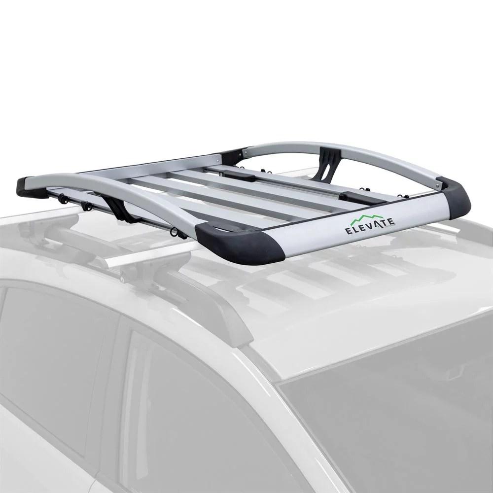 elevate aluminum roof cargo basket