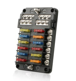 tsv 12 way 24 fuse box circuit standard blade block holder w led for car boat dc32v walmart com [ 1600 x 1600 Pixel ]