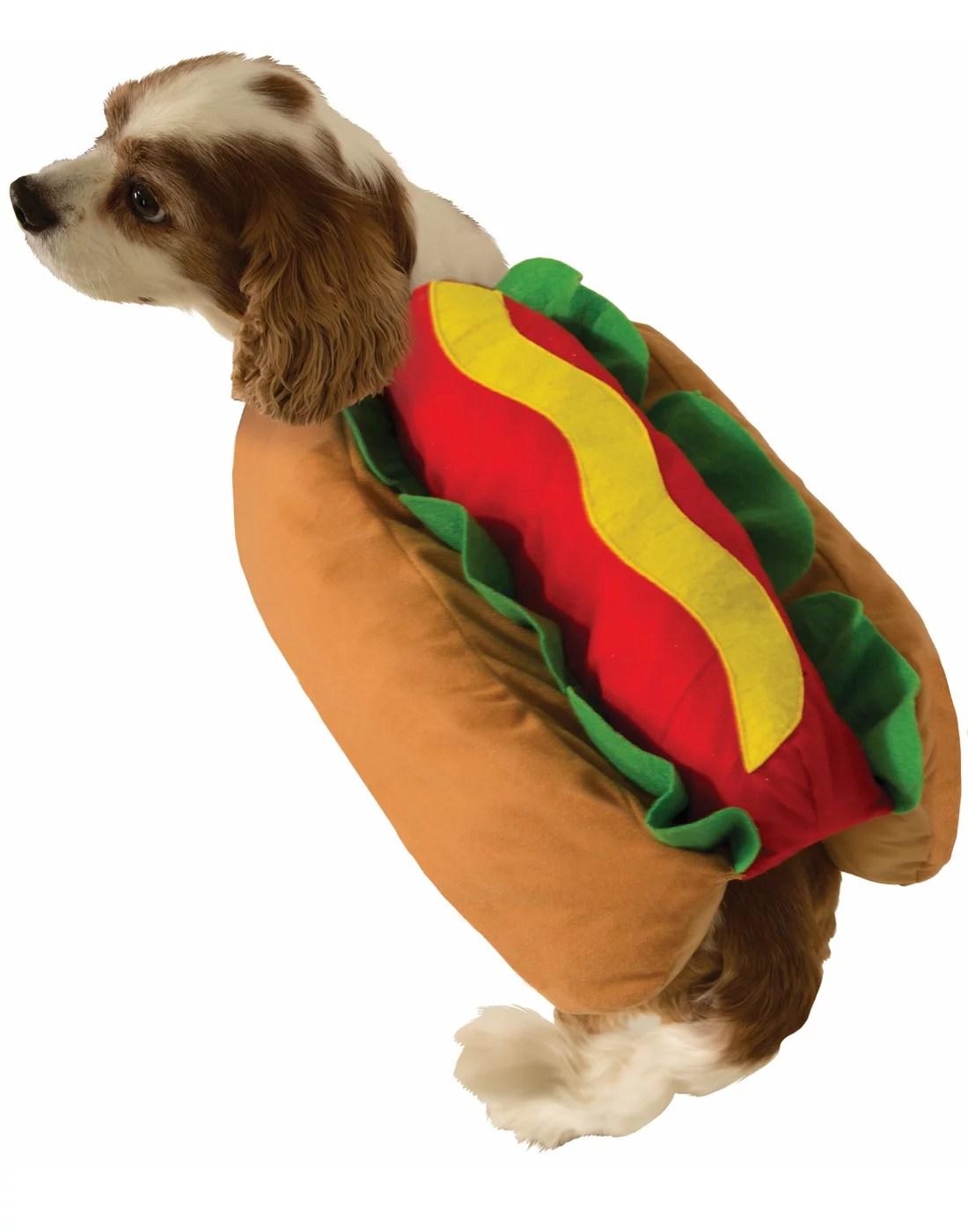 Dog Halloween Funny Hot Dog Food Pet Costume Dress Up Suit