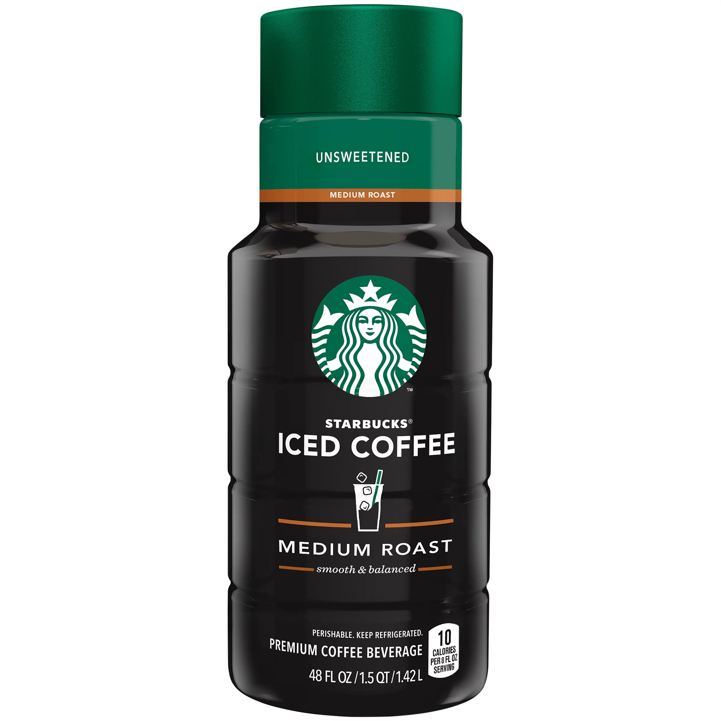 Starbucks Unsweetened Iced Coffee 48 Fl Oz  Walmartcom