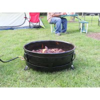 King Kooker Portable Propane Outdoor Fire Pit with ...