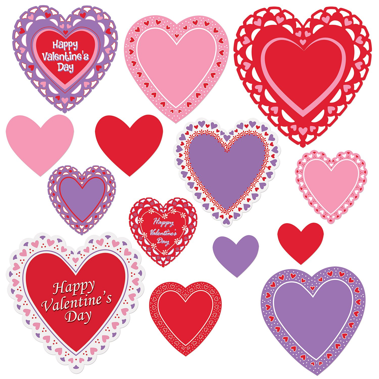Beistle Valentine S Day Decoration Cutouts Case Of 168