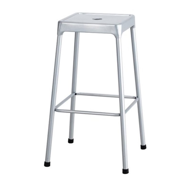 Safco 29 Steel Bar Stool In Silver