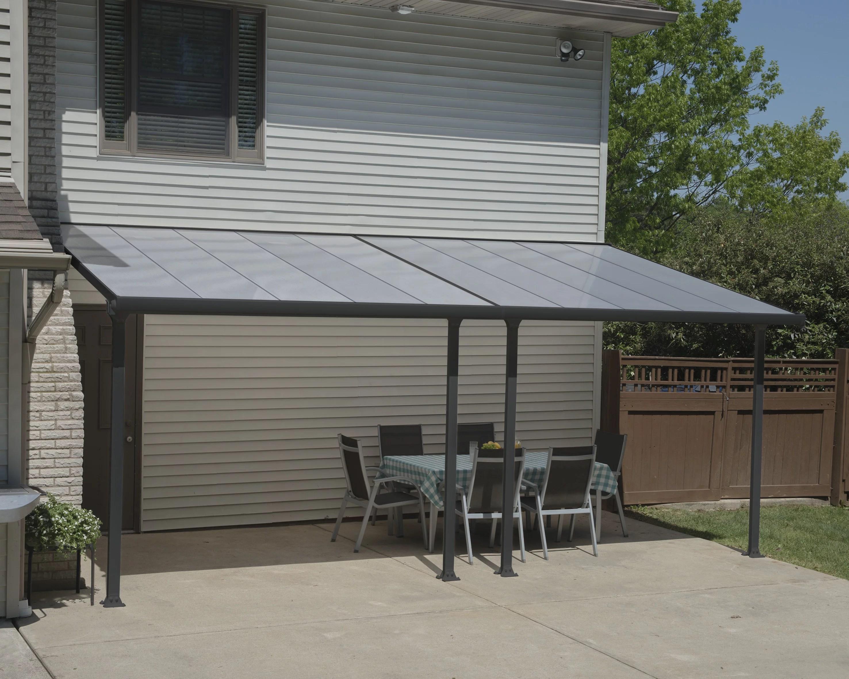 palram feria 20 x 10 patio cover gray walmart com walmart com