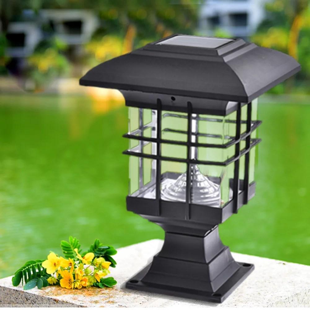 solar pillar lamps garden landscape lights led outdoor waterproof lighting park decorative lights