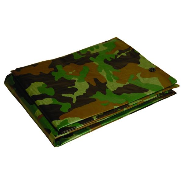 Foremost Dry Top Tarp Camouflage 41012 10' X 12' 7 Mil Green