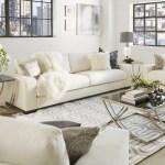 Inspire Q Lionel White Cotton Down Filled Extra Long Deep Seat Sofa By Artisan Walmart Com Walmart Com