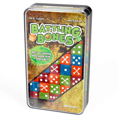 Pressman Toy Battling Bones Dice Game