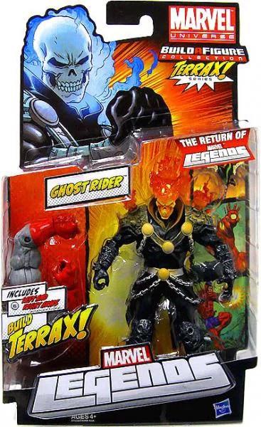 Marvel 2012 Series 1 Ghost Rider Action Figure Red Orange