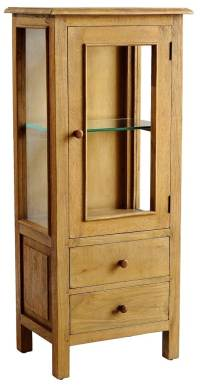Curio Cabinet in Rustic Mango Natural Finish - Walmart.com
