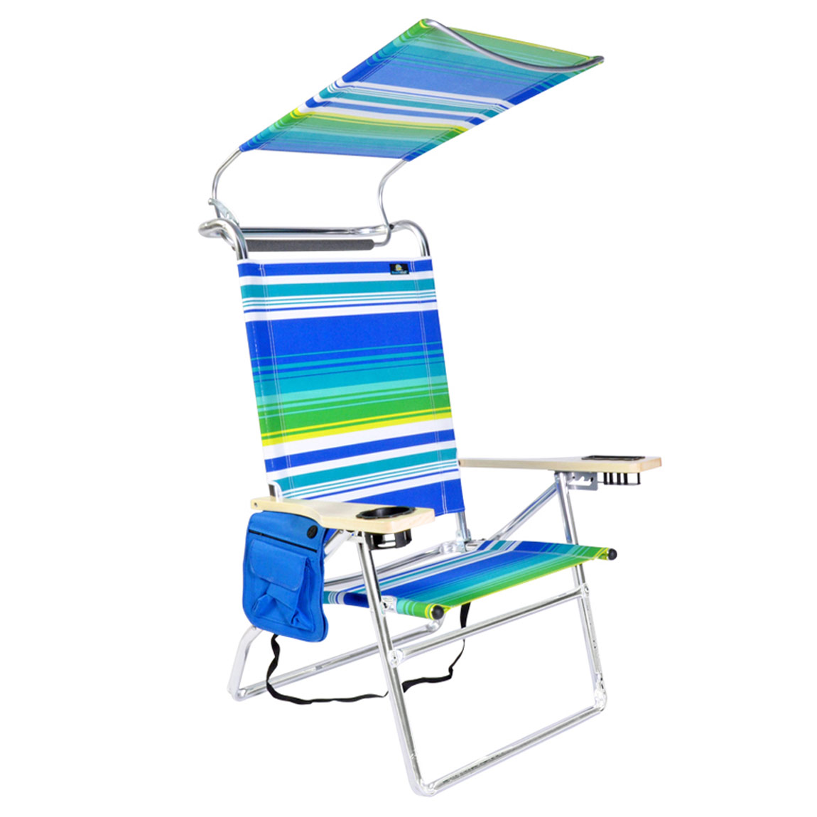 high seat beach chairs with canopy kids spa chair deluxe 4 position aluminum